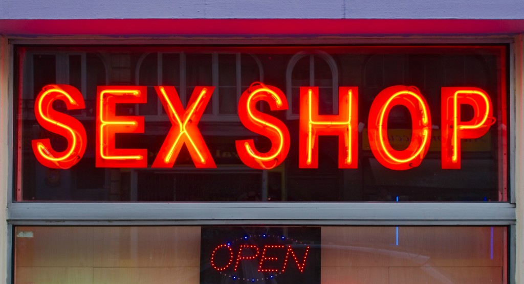 Sex shop neon sign resized