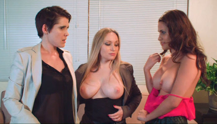 Vaness Veracruz, Aiden Starr, and Lily Cade in Between the HEadlines